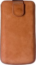 Azuri case nubuck intrekbaar en met magneet - XL 01 - Bruin
