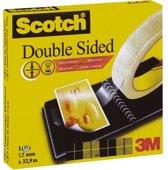 Scotch® Dubbelzijdige Tape, Zonder Schutlaag, 12 mm x 33 m