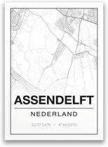 Poster/plattegrond ASSENDELFT - A4