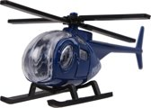 Johntoy Politiehelikopter 9 Cm Blauw