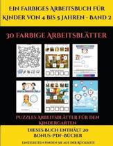 Puzzles Arbeitsblatter Fur Den Kindergarten (Ein Farbiges Arbeitsbuch Fur Kinder Von 4 Bis 5 Jahren - Band 2)