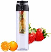 XL Fruit Infuser - Fruitwater Fruit Filter Fles - BPA Vrij- Fruitfilter Sport Fles