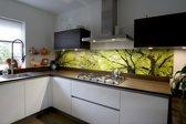 Keuken achterwand: Bladerdak 305 x 50 cm