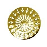 LOCKits 982500676 - Stalen munt - fantasie bloem - 33-2 mm - goudkleurig