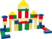 Houten bouwblokken in ton met 40 kleurrijke houten blokken - Speelgoed vanaf 1 jaar