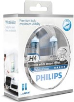 Philips WhiteVision - Autolampenset H4 - Inclusief 2 stuks W5W