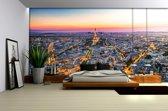 City Paris Sunset Eiffel Tower Photo Wallcovering