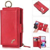 H.K. Apple Iphone XR Pelogon hoesje + portemonnee geschikt voor 12 pasjes minimaal rood