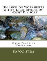 365 Division Worksheets with 4-Digit Dividends, 1-Digit Divisors
