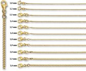 Quickjewels 4004588 Gouden gourmet collier