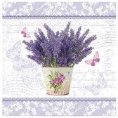 """VOORDEELPAK: 5 Pakjes van Servetten """"Flowering Lavender"""", 33 cm - verpakking van 20 servietten"""