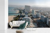 Fotobehang vinyl - Moderne Japanse stad van Fukuoka op Kyushu breedte 360 cm x hoogte 240 cm - Foto print op behang (in 7 formaten beschikbaar)