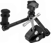 11 inch Adjustable Friction Articulating Magic Arm + Large Claws Clips voor DSLR / LCD Monitor(zwart)