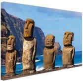 Paaseiland stille oceaan Canvas 30x20 cm - Foto print op Canvas schilderij (Wanddecoratie)