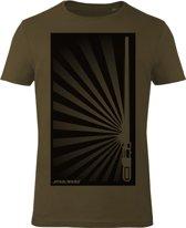 Star-Wars-T-shirt-met-korte-mouw-olijfgroen-maat-M