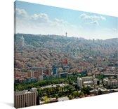 Panorama van Ankara in Turkije Canvas 60x40 cm - Foto print op Canvas schilderij (Wanddecoratie woonkamer / slaapkamer)