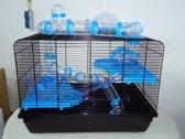 Hamsterkooi Jerry 2 Galaxy Blauw