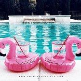 Swim Essentials Opblaasbare Roze Flamingo Bekerhouder (3st)