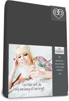 Bed-Fashion jersey hoeslaken voor boxspring Antraciet - 140 x 220 cm - Antraciet