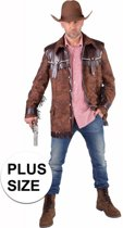 Grote maten cowboy jas bruin voor heren 64-66 (2xl) - western / country outfit