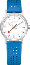 Mondaine Classic M658.30323.16SBD Horloge - Leer - Blauw - Ø30 mm