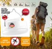 Tent lamp anti muggen - 3 in 1 LED met 6400K / powerbank functie - 5W USB oplaadbaar