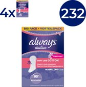 Always Dailies Soft Like Cotton Normal Fresh - Voordeelverpakking 232 Stuks - Inlegkruisjes