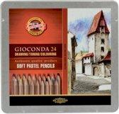 Pastelpotloden Gioconda 24 st. incl. Blender