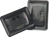Schaal, vleeswarenschaal, PS, rechthoekig, 170x45mm, zwart