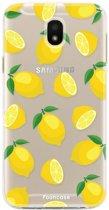 FOONCASE Samsung Galaxy J5 2017 hoesje TPU Soft Case - Back Cover - Lemons / Citroen / Citroentjes