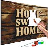 Doe-het-zelf op canvas schilderen - Home Sweet Home 60x40