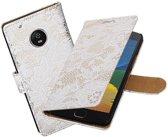 BestCases.nl Motorola Moto G5 Lace booktype hoesje Wit