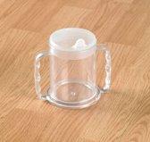 Transparante beker met 2 handvatten 285 ml - standaard