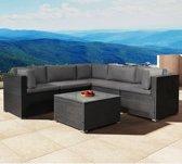 Polyrotan loungeset - Nassau - lounge set zwart