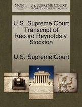 U.S. Supreme Court Transcript of Record Reynolds V. Stockton