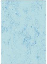 designpapier Sigel A4 90grs pak a 100 vel marmer blauw
