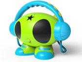 Karaoke Robot met 2 microfoons, usb aansluiting en voice recording via SD kaart