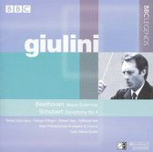 Beethoven: Missa Solemnis; Schubert: Symphony no 4 / Giulini