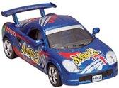 Goki Metalen auto: straatracer blauw sport