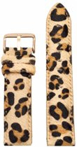 Leopard Furry strap - rose gold buckle