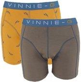 Vinnie-G boxershorts Wakeboard Grey - Print 2-Pack-M