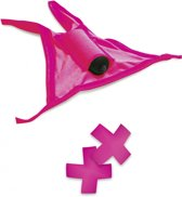 Pipedream Neon 2 delig vibrerend ondergoed Vibrating Crotchless Panty/Pasties Pink roze
