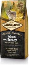 Carnilove Large breed granenvrij hondenvoer Zalm & Kalkoen met 70% vlees!