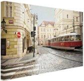 FotoCadeau.nl - Tram in Praag Canvas 30x20 cm - Foto print op Canvas schilderij (Wanddecoratie)