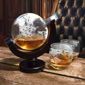 Globe decanter / Whiskey karaf in Wereldbol look