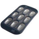 Mastrad Cakevorm Madelaine - Siliconen - Voor 9 stuks - Zwart