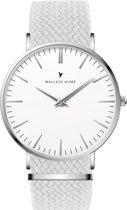 Wallace Hume Klassiek Wit - Horloge - Perlon - Wit