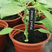 Plantenlabels zwart - set van 200 stuks