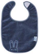 Slab waterproof velvet terry Sweet bunny vintage blue