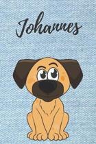 Johannes Hunde-Notizbuch / Malbuch / Tagebuch: Individuelles personalisiertes blanko Jungen & M�nner Namen Notizbuch, blanko DIN A5 Seiten. Ideal als